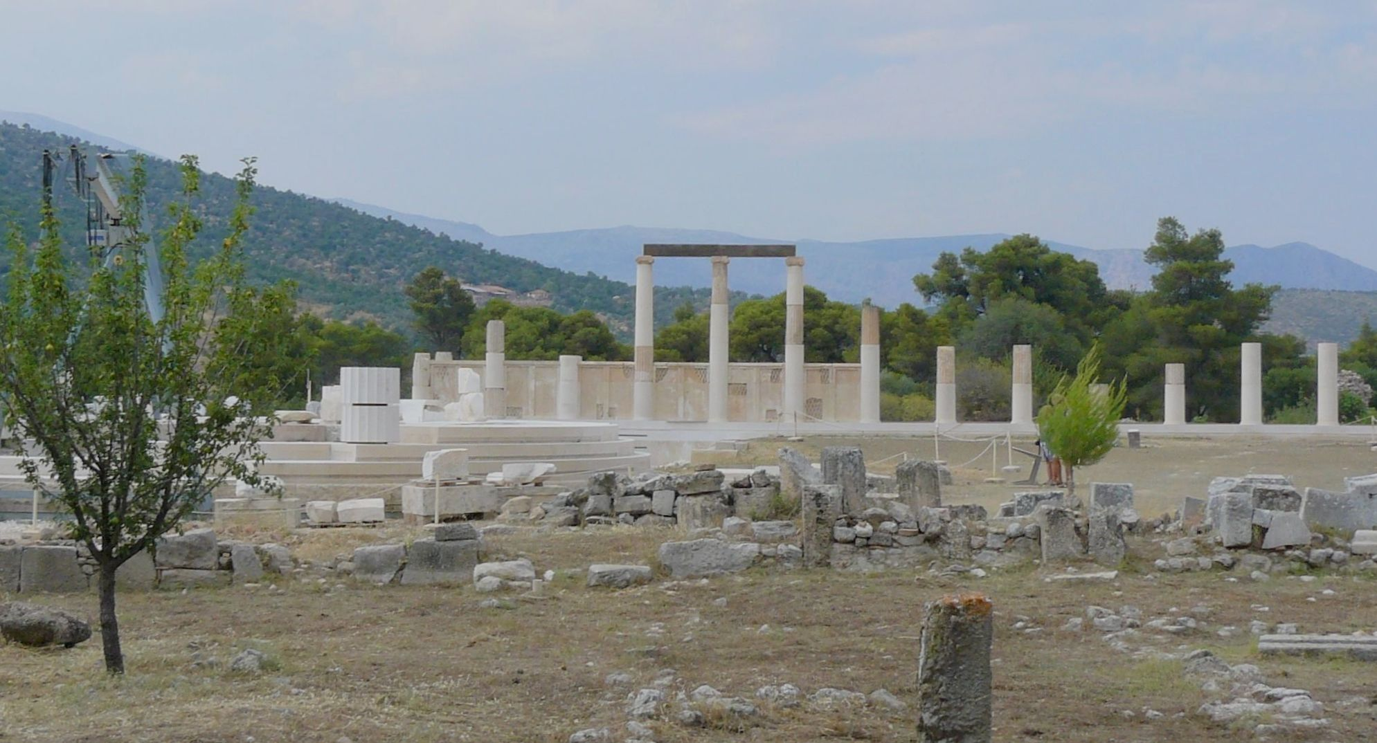 Abaton and remains of Temple of Asclepius